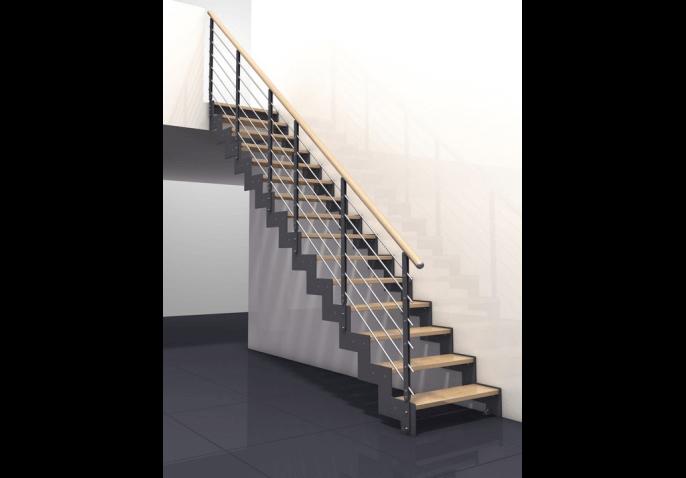 comment fixer un escalier droit