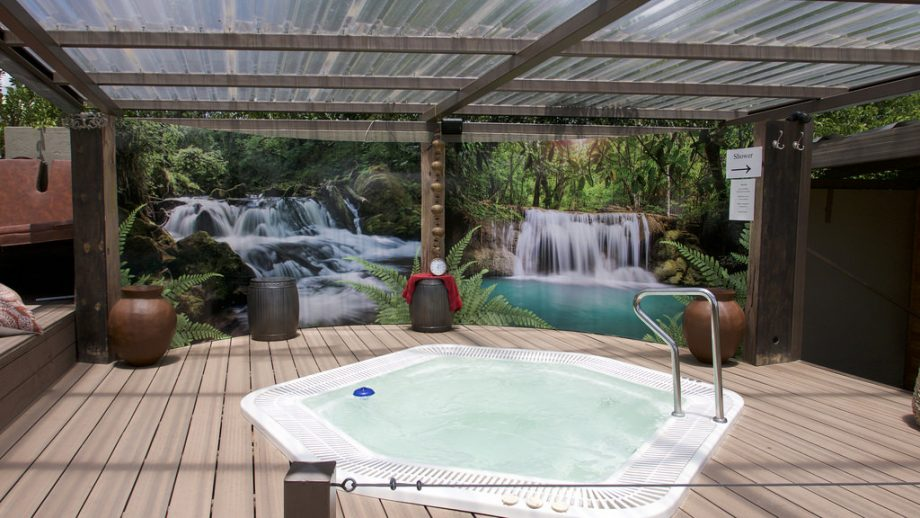 pergola pour spa gonflable